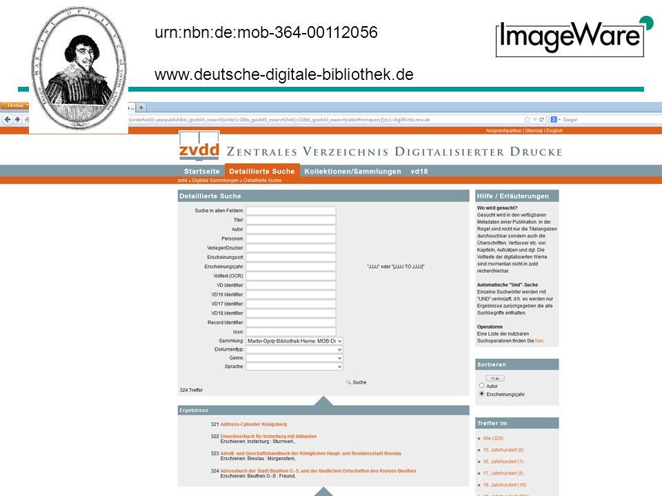 urn:nbn:de:mob-364-00112056 www.deutsche-digitale-bibliothek.de www.zvdd.de
