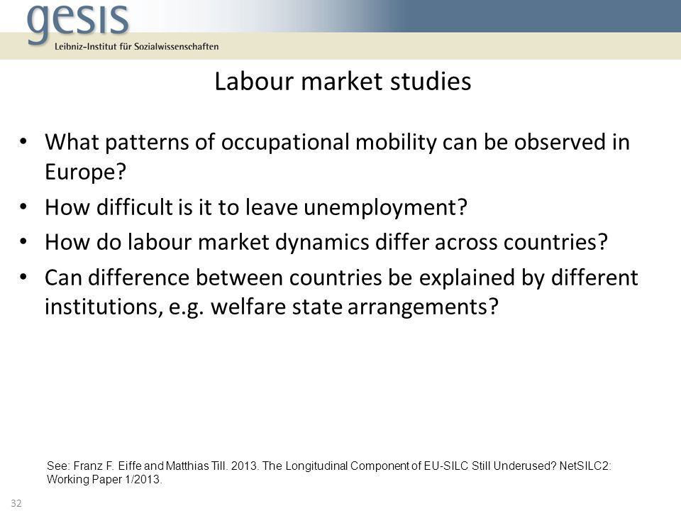 What patterns of occupational mobility can be observed in Europe.