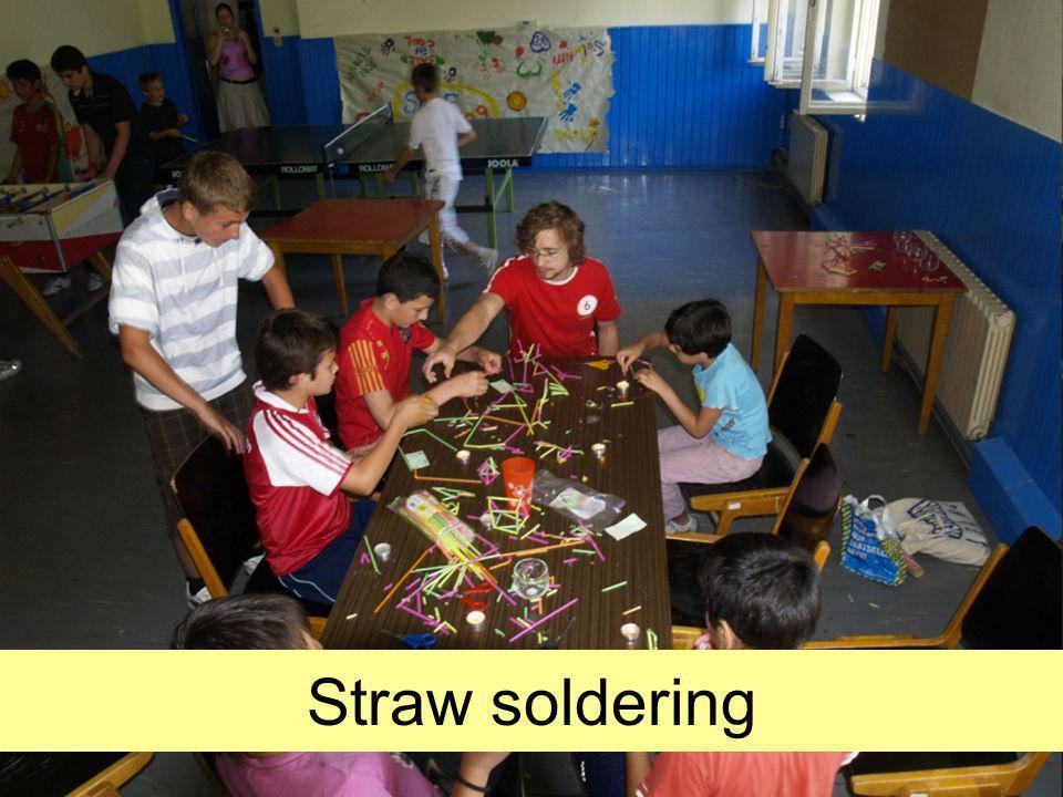 Straw soldering