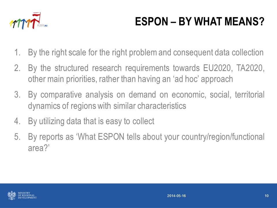 2014-05-1610 ESPON – BY WHAT MEANS.