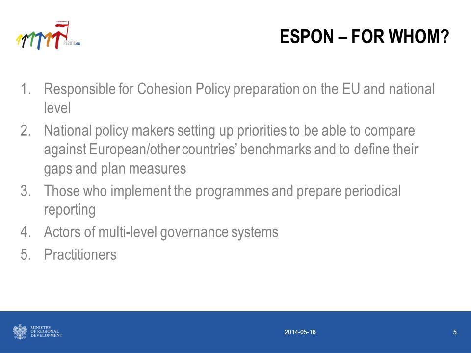 2014-05-165 ESPON – FOR WHOM.