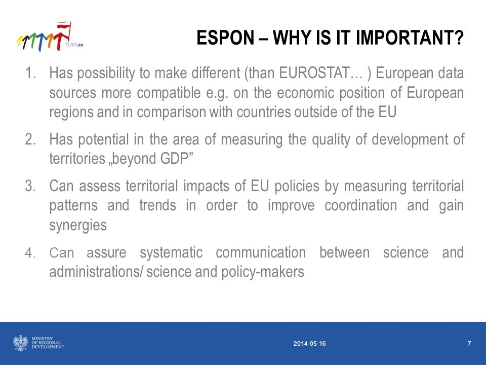 2014-05-167 ESPON – WHY IS IT IMPORTANT.