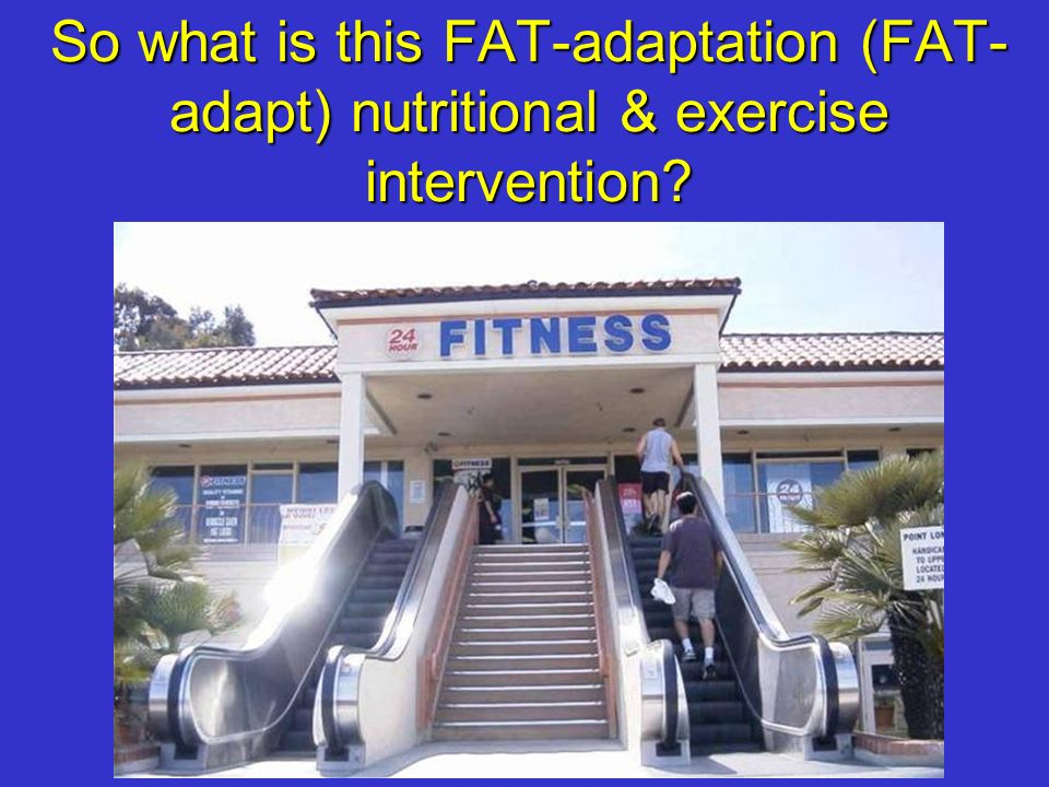 So what is this FAT-adaptation (FAT- adapt) nutritional & exercise intervention?