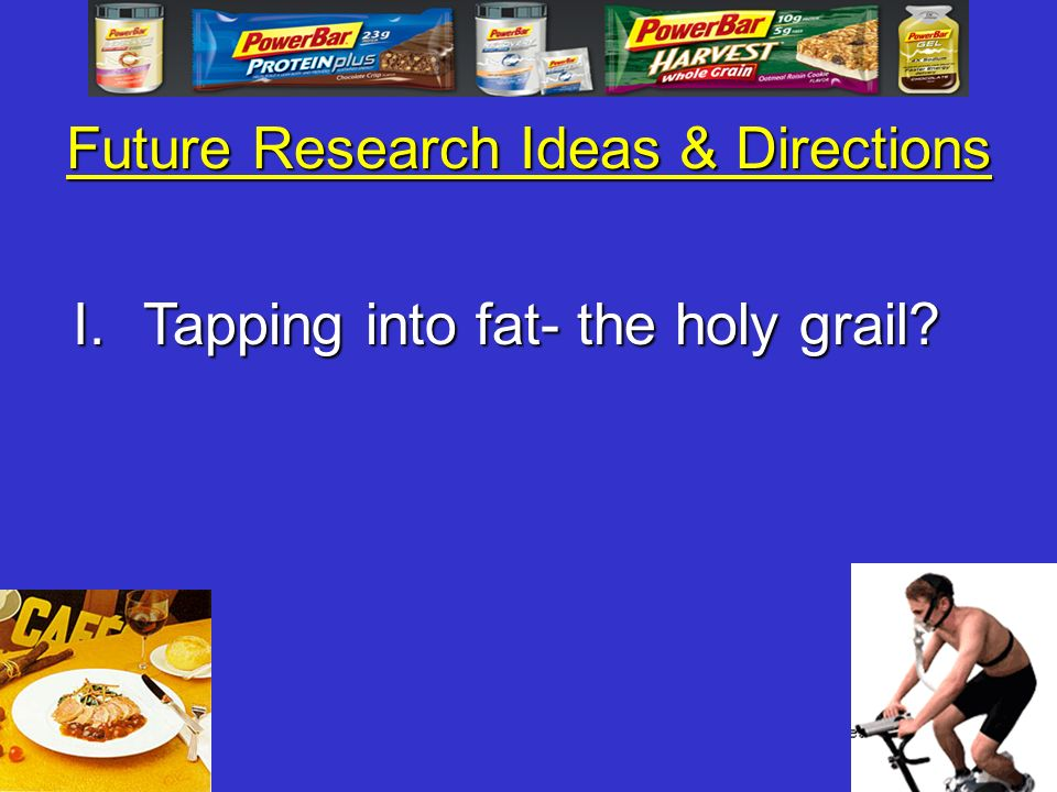 Future Research Ideas & Directions I.Tapping into fat- the holy grail?