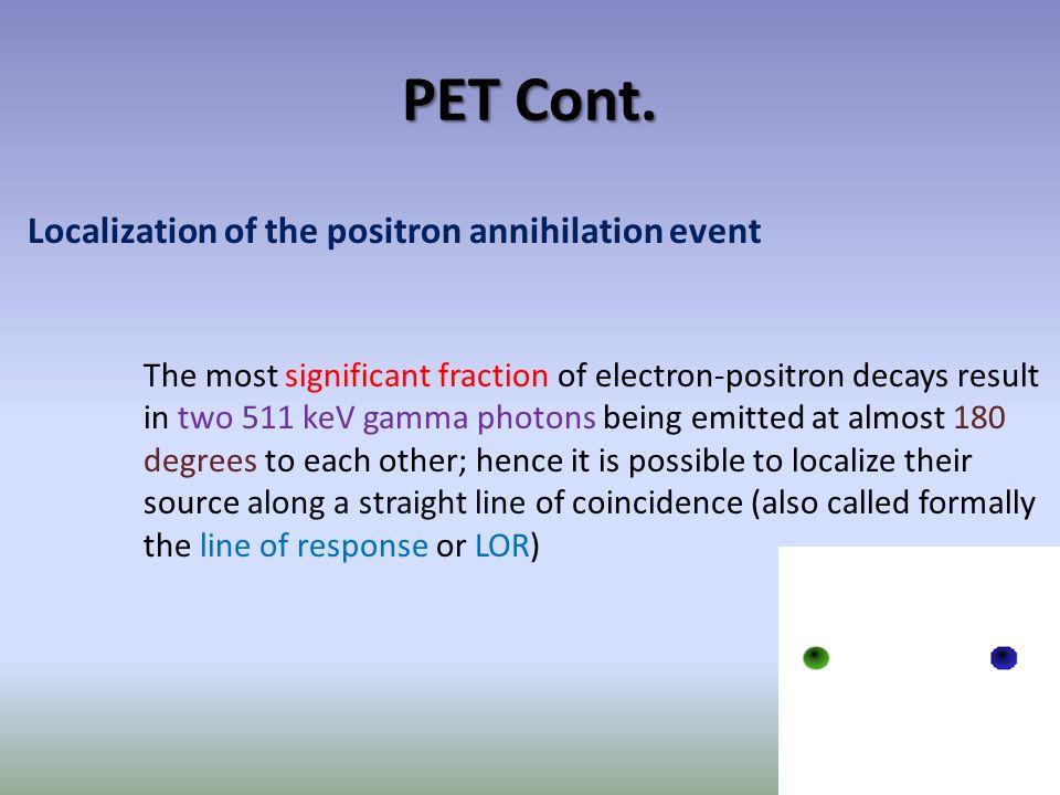 PET Cont.
