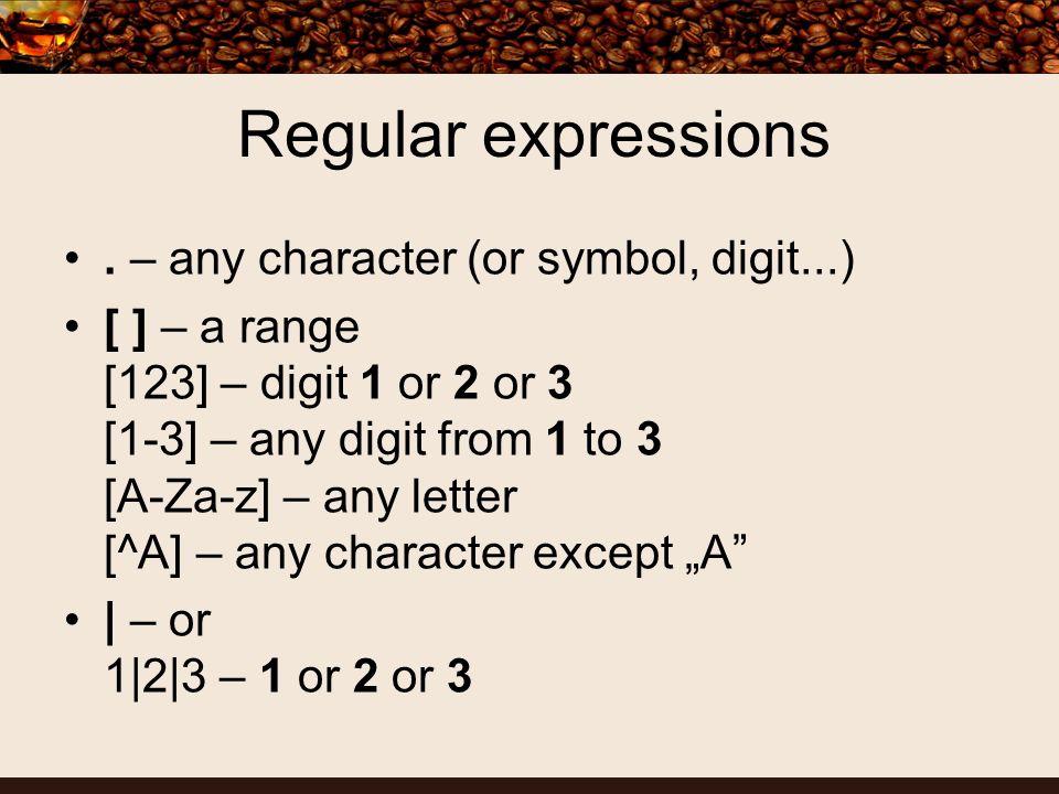 Regular expressions.