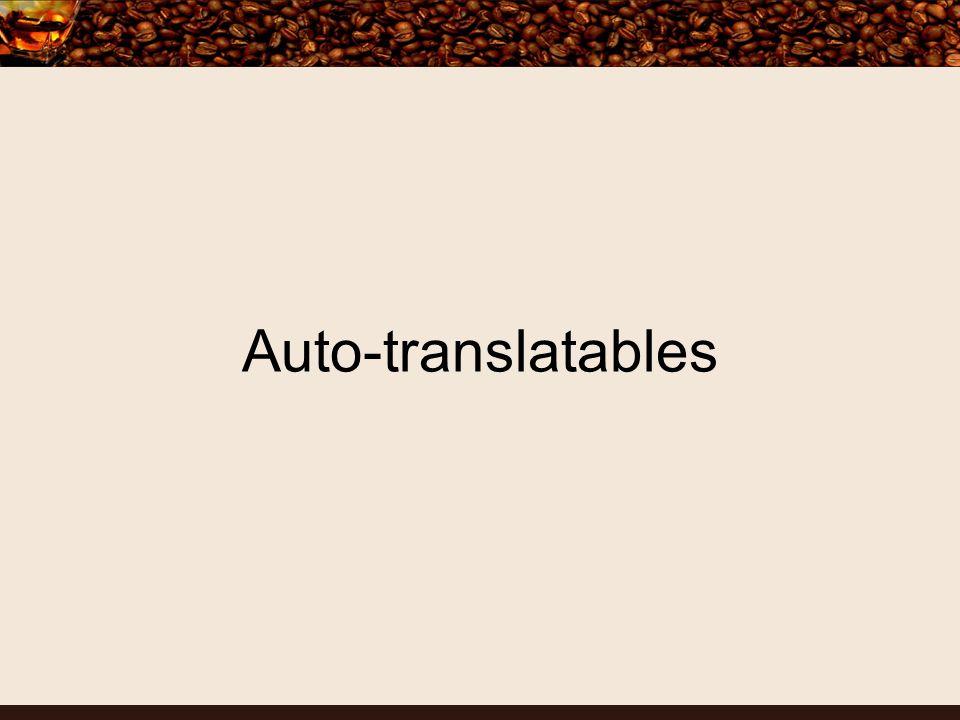 Auto-translatables