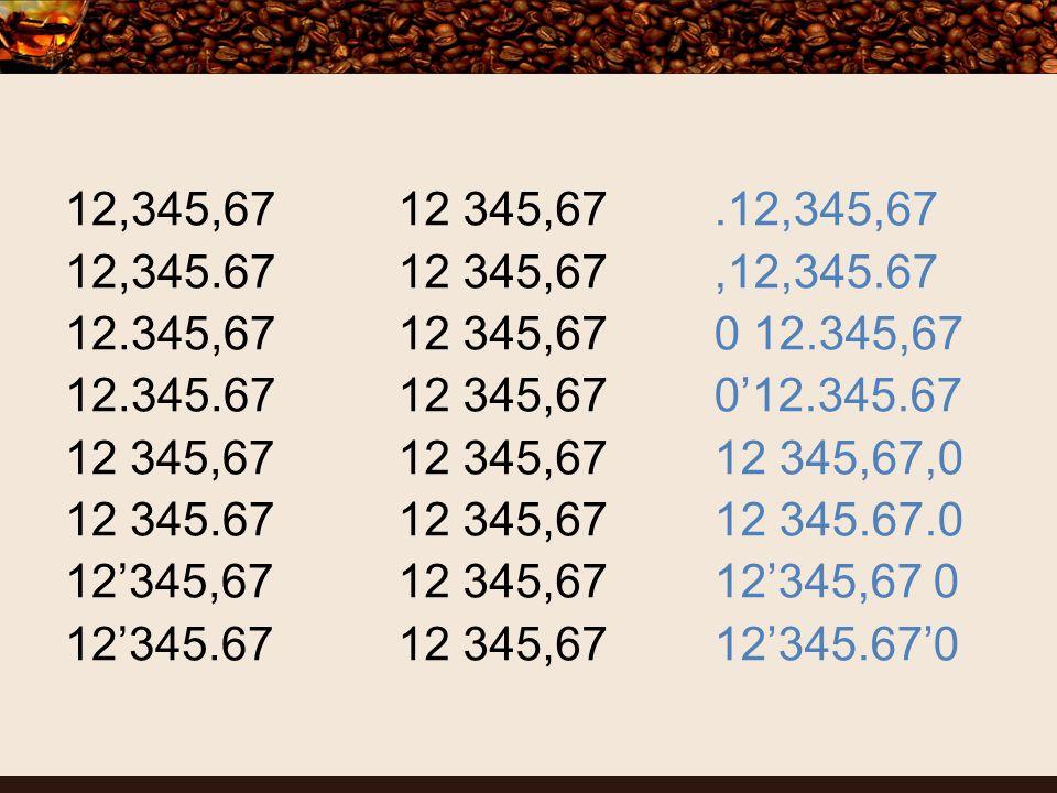 12 345,67 12,345,67 12,345.67 12.345,67 12.345.67 12 345,67 12 345.67 12345,67 12345.67.12,345,67,12,345.67 0 12.345,67 012.345.67 12 345,67,0 12 345.67.0 12345,67 0 12345.670
