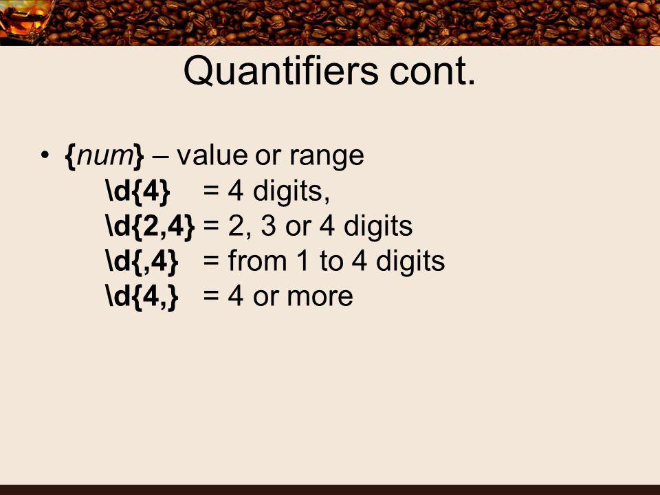 Quantifiers cont.