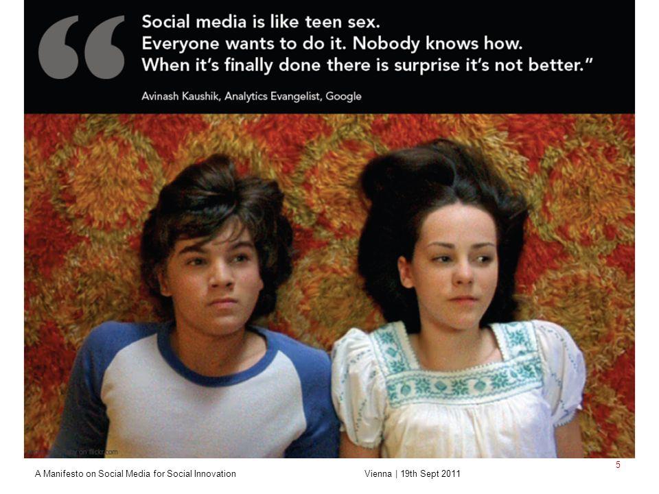 Sozialforschungsstelle Dortmund Zentrale wissenschaftliche Einrichtung A Manifesto on Social Media for Social Innovation Vienna | 19th Sept 2011 5