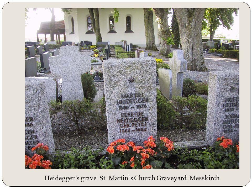 Heideggers grave, St. Martins Church Graveyard, Messkirch