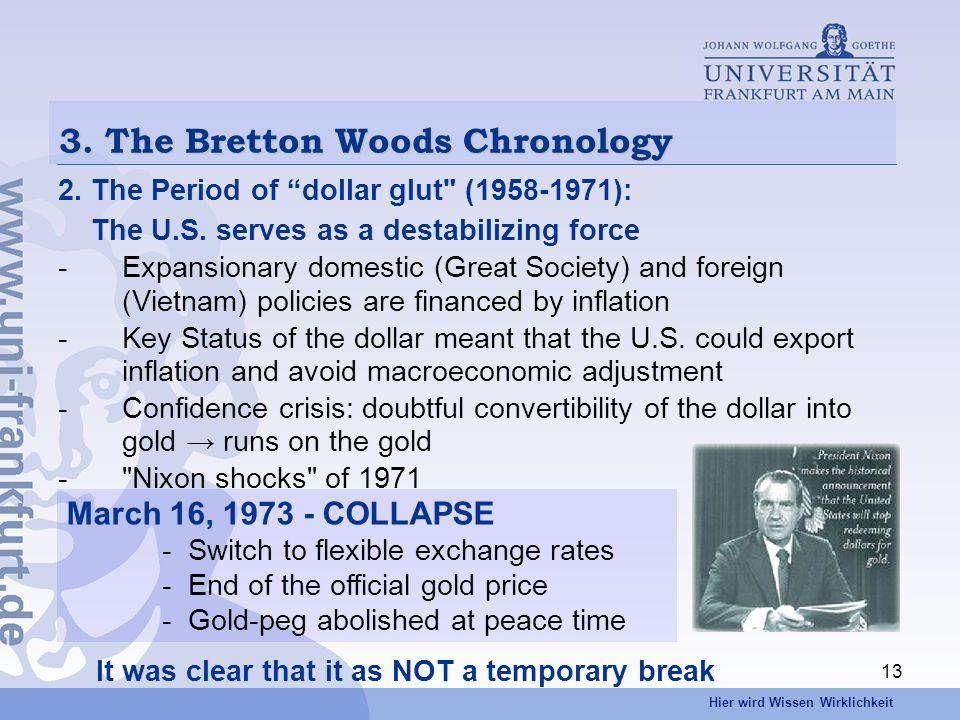 Hier wird Wissen Wirklichkeit 13 3. The Bretton Woods Chronology 2.