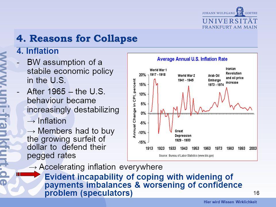 Hier wird Wissen Wirklichkeit 16 4. Reasons for Collapse 4.