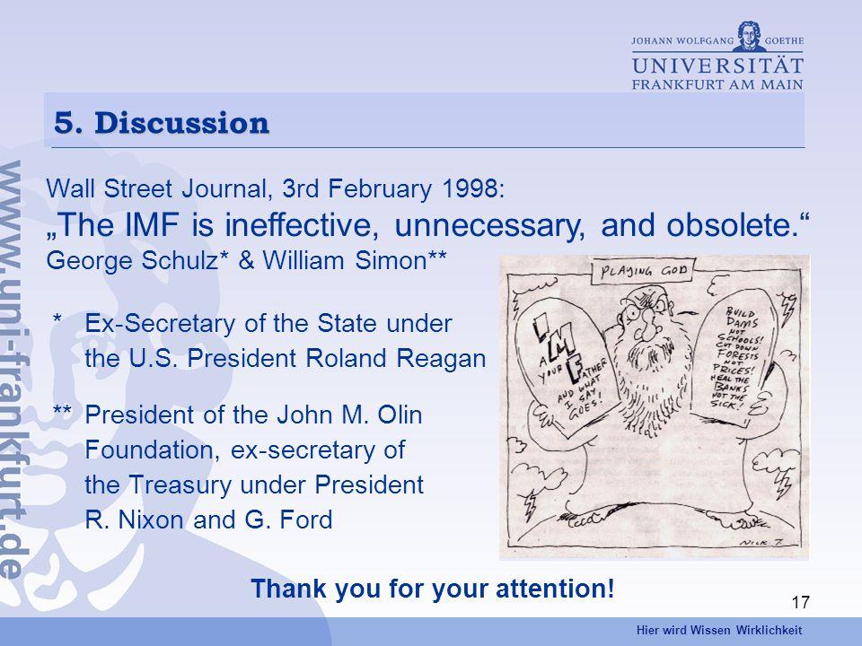 Hier wird Wissen Wirklichkeit 17 *Ex-Secretary of the State under the U.S.