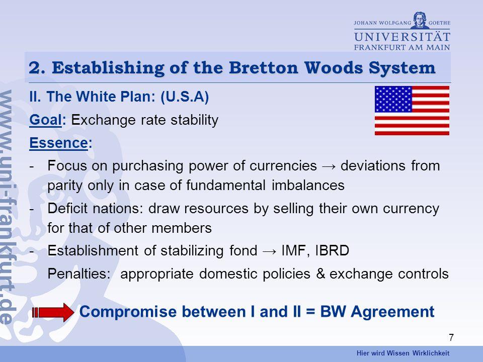 Hier wird Wissen Wirklichkeit 7 2. Establishing of the Bretton Woods System II.