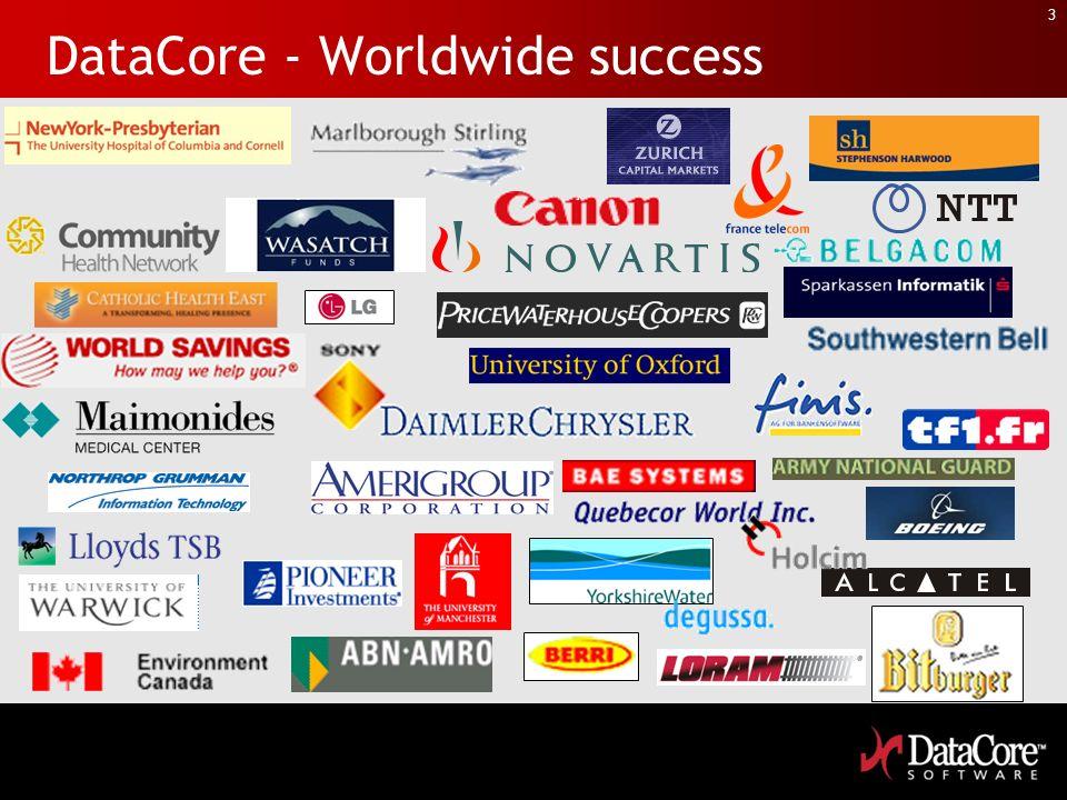 3 DataCore - Worldwide success