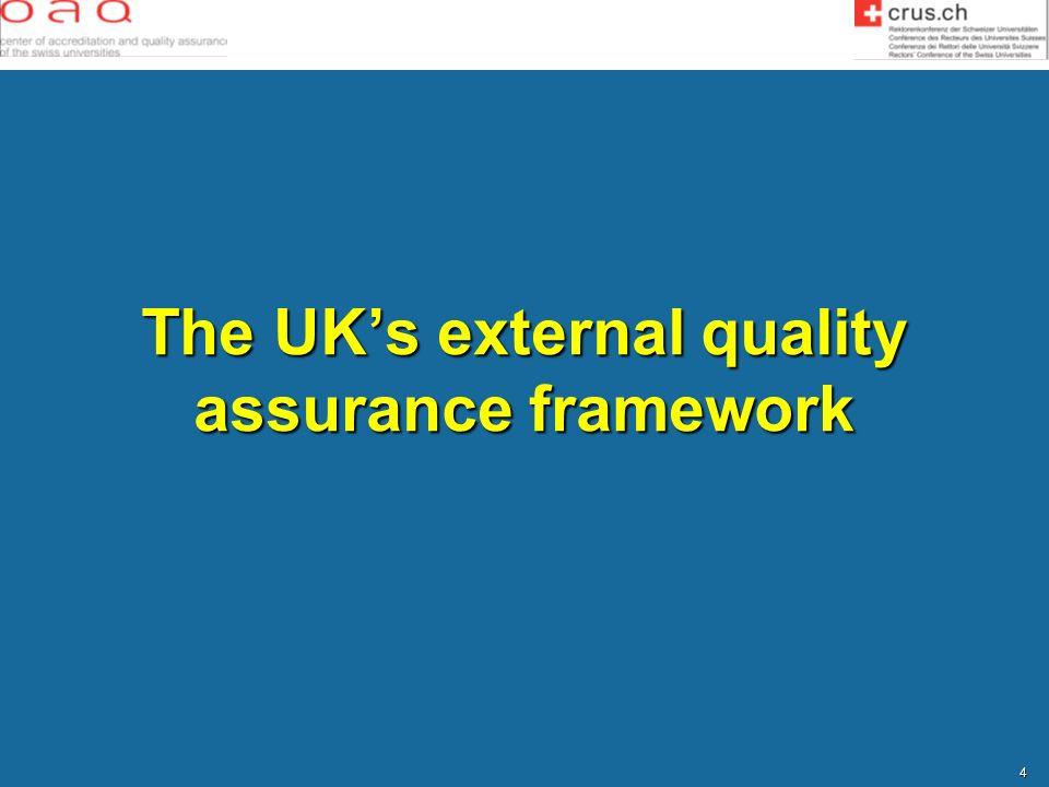 4 The UKs external quality assurance framework