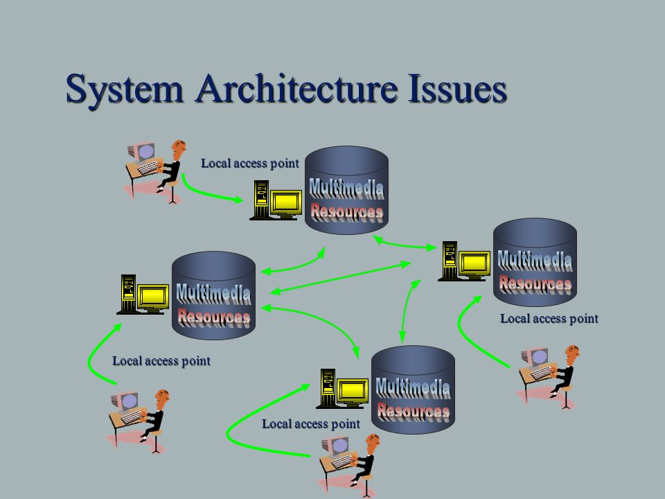 System Architecture Issues Local access point