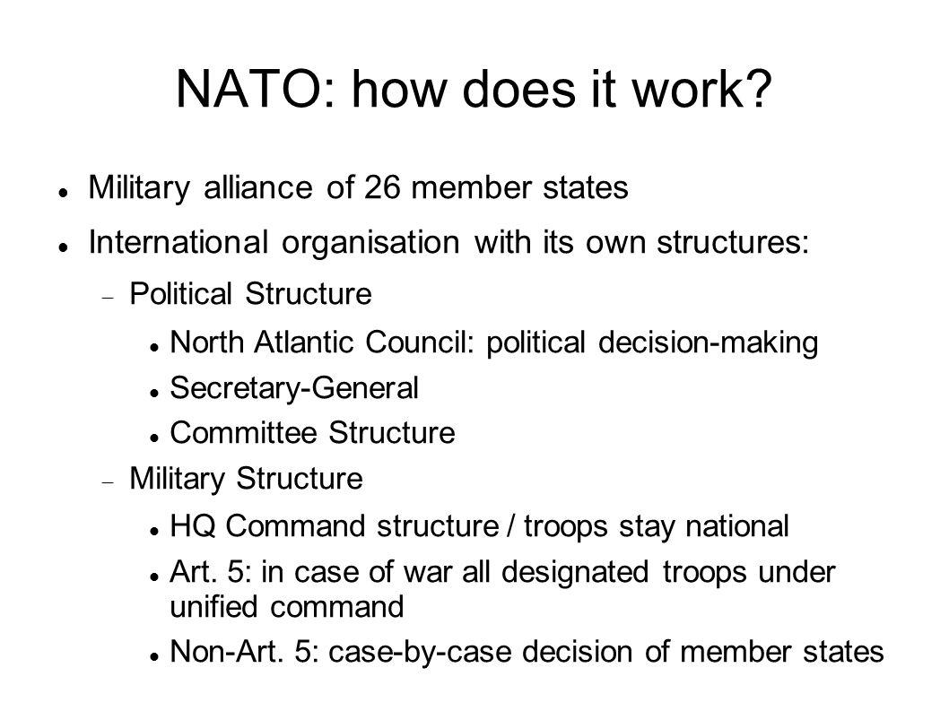 NATO headquarter structure