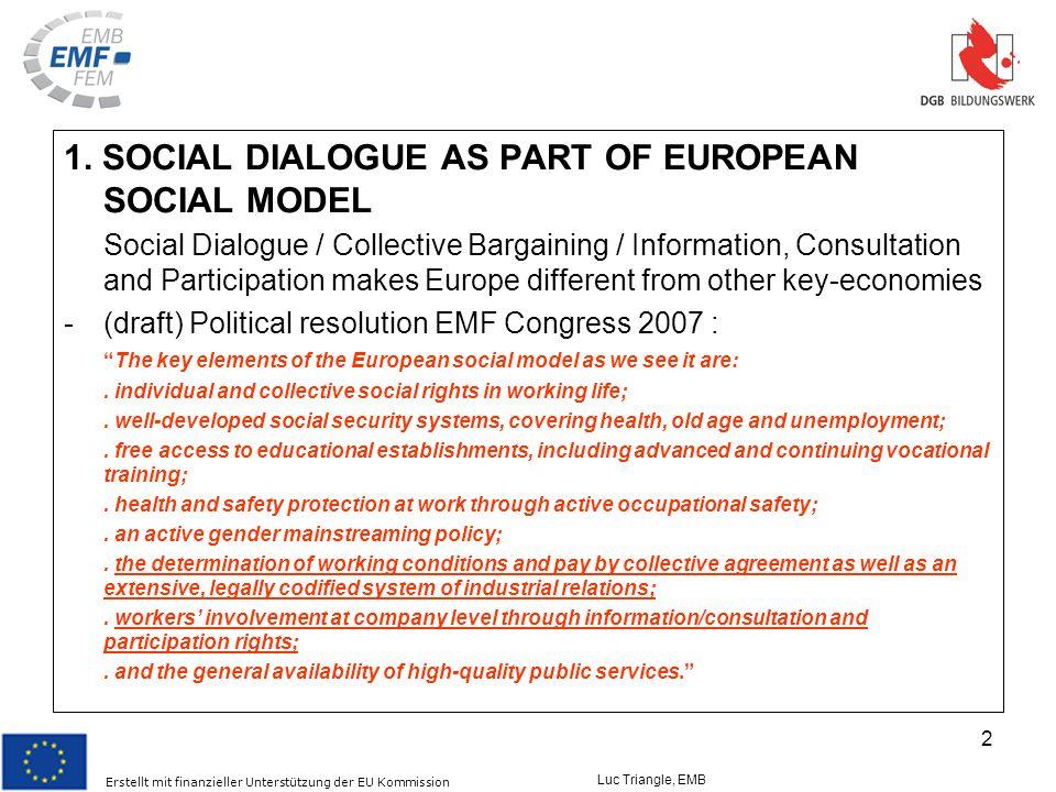 Erstellt mit finanzieller Unterstützung der EU Kommission Luc Triangle, EMB 2 1.