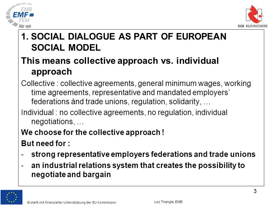 Erstellt mit finanzieller Unterstützung der EU Kommission Luc Triangle, EMB 3 1.