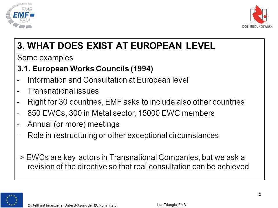 Erstellt mit finanzieller Unterstützung der EU Kommission Luc Triangle, EMB 5 3.