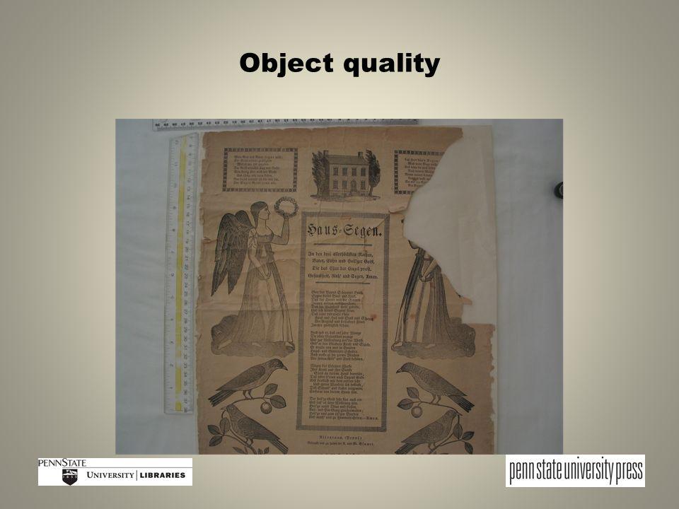 Object quality