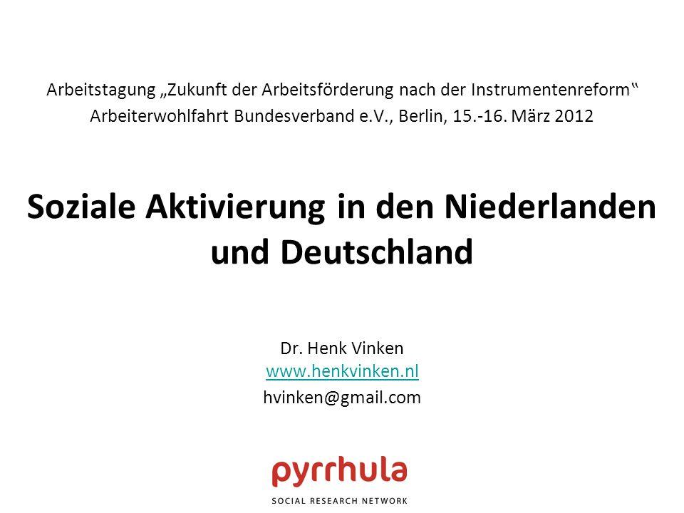 Arbeitstagung Zukunft der Arbeitsförderung nach der Instrumentenreform Arbeiterwohlfahrt Bundesverband e.V., Berlin, 15.-16.