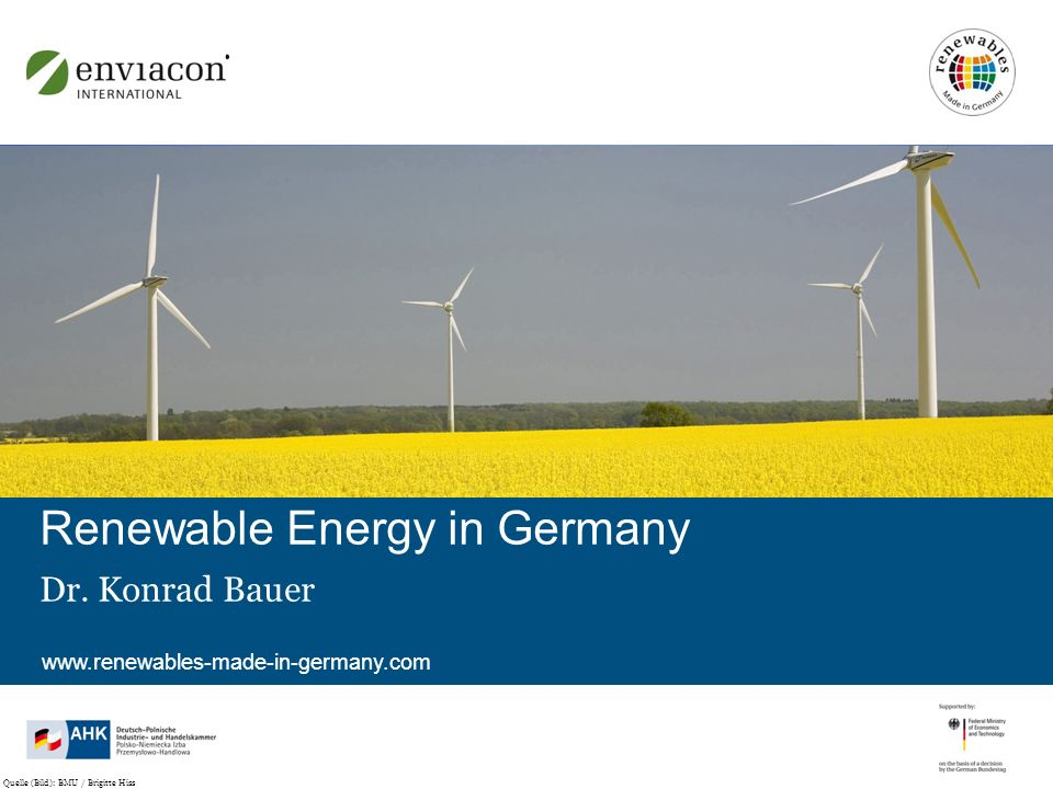 www.renewables-made-in-germany.com Renewable Energy in Germany Dr.