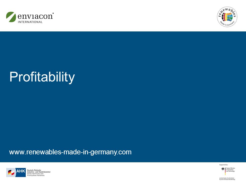 www.renewables-made-in-germany.com Profitability