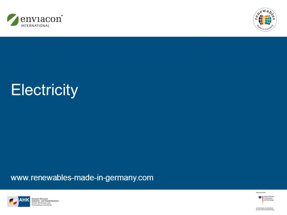 www.renewables-made-in-germany.com Electricity