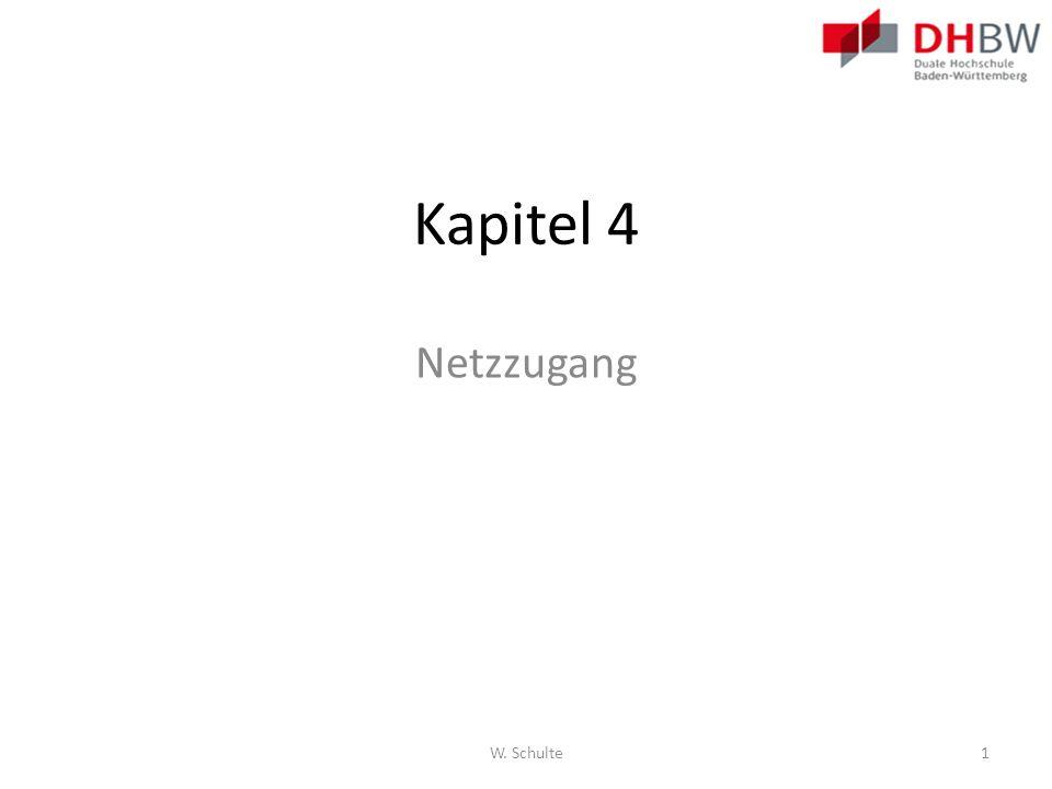 Kapitel 4 Netzzugang W. Schulte1
