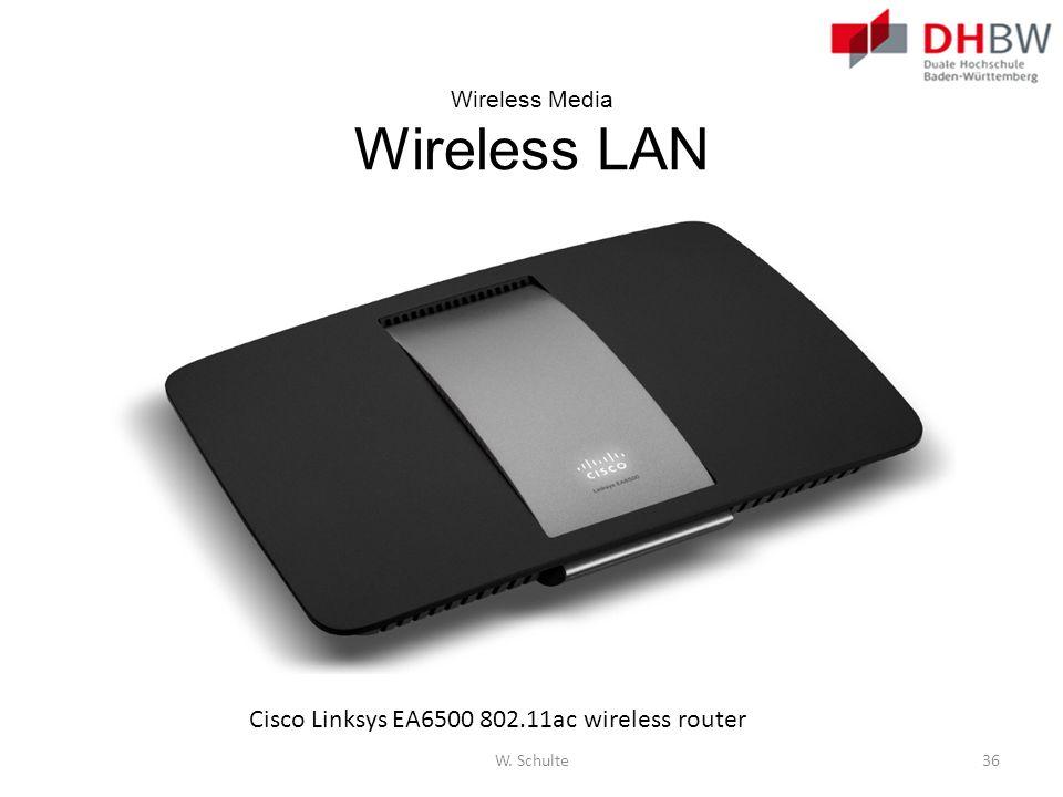 Wireless Media Wireless LAN Cisco Linksys EA6500 802.11ac wireless router W. Schulte36