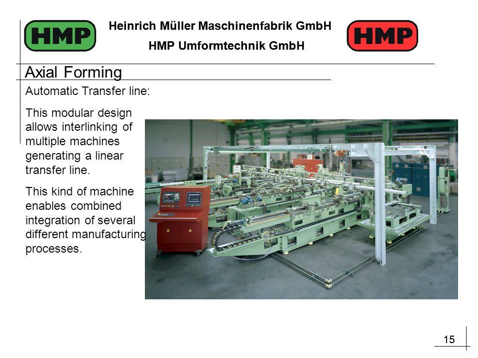15 Heinrich Müller Maschinenfabrik GmbH HMP Umformtechnik GmbH 15 Heinrich Müller Maschinenfabrik GmbH HMP Umformtechnik GmbH Automatic Transfer line: