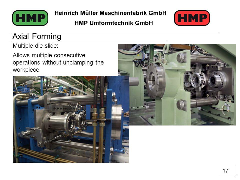 17 Heinrich Müller Maschinenfabrik GmbH HMP Umformtechnik GmbH 17 Heinrich Müller Maschinenfabrik GmbH HMP Umformtechnik GmbH Allows multiple consecut