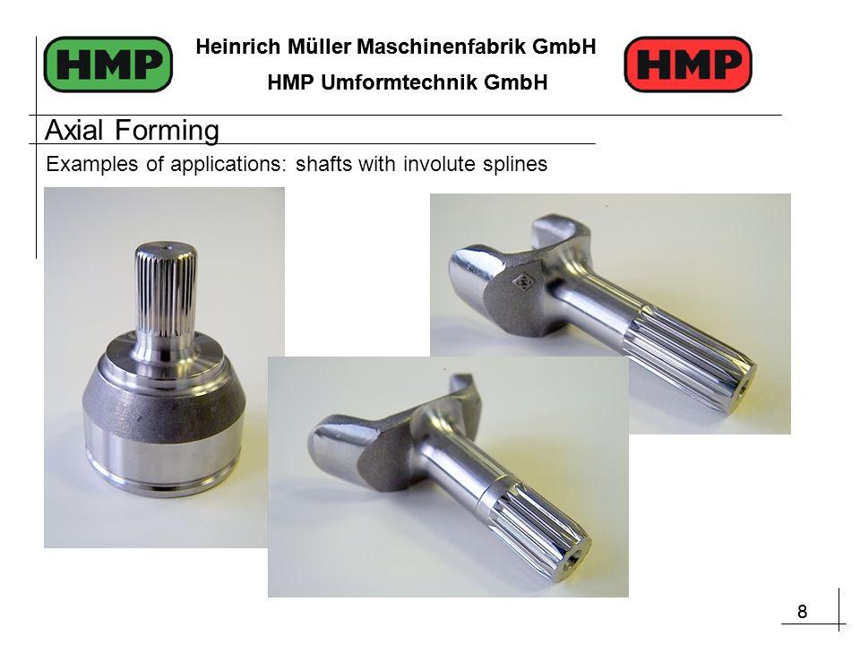 8 Heinrich Müller Maschinenfabrik GmbH HMP Umformtechnik GmbH 8 Heinrich Müller Maschinenfabrik GmbH HMP Umformtechnik GmbH Examples of applications: