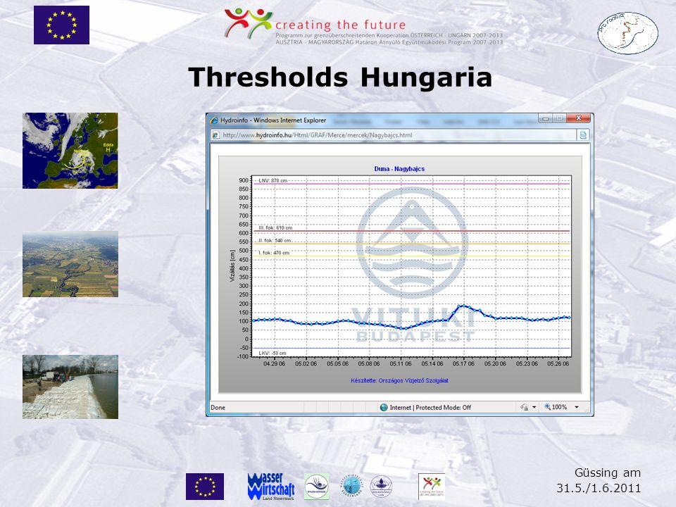 Thresholds Hungaria Güssing am 31.5./1.6.2011