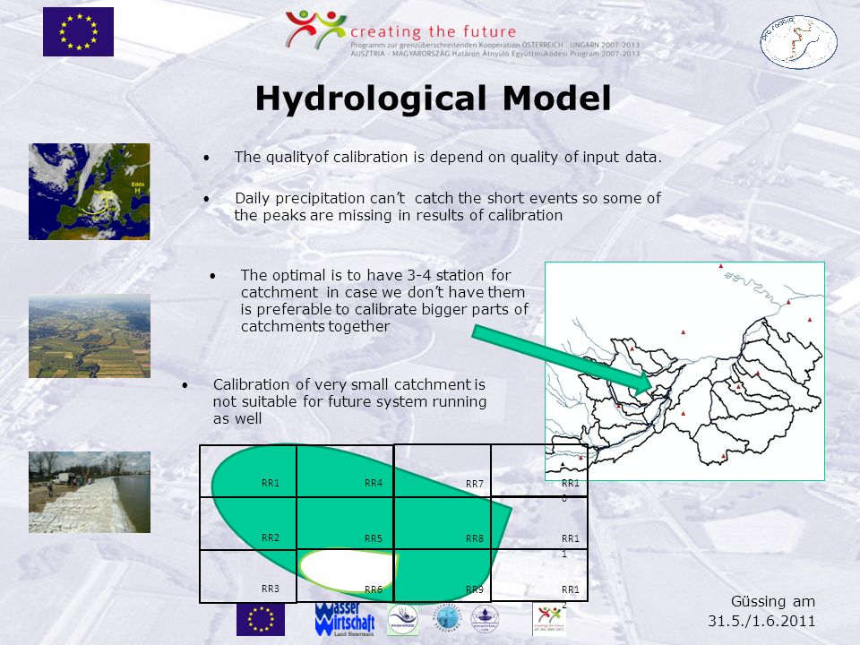 Merging of Forecasting Models AT -HU Güssing am 31.5./1.6.2011 Border – geograficall probles