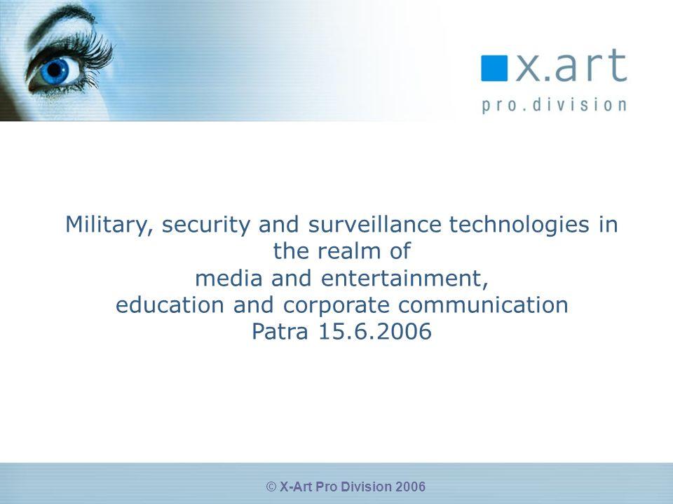 © X-Art Pro Division 2006 Viele Lösungen- Eine Kerntechnologie SmartEncode Virage Solution Server Virage Content Management Platform