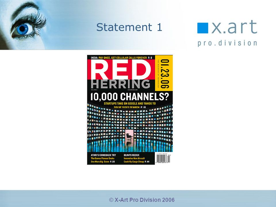 © X-Art Pro Division 2006 Statement 1