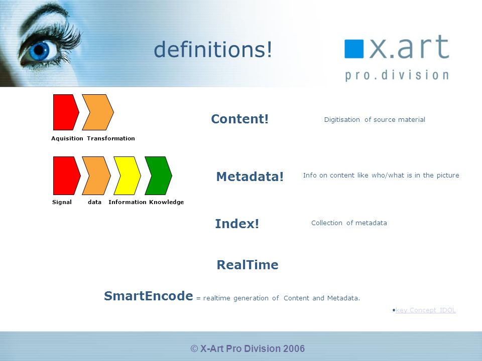 © X-Art Pro Division 2006 Todays leading supplier of Video, Rich Media and communication software solutions
