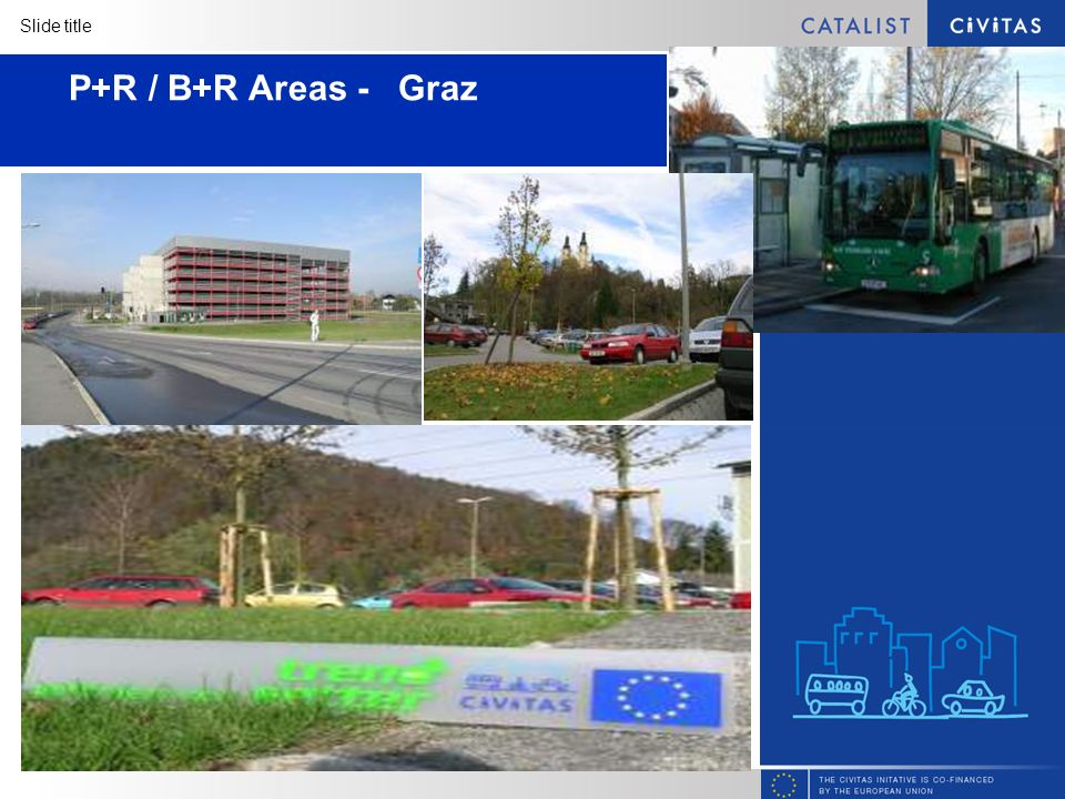 Slide title P+R / B+R Areas - Graz