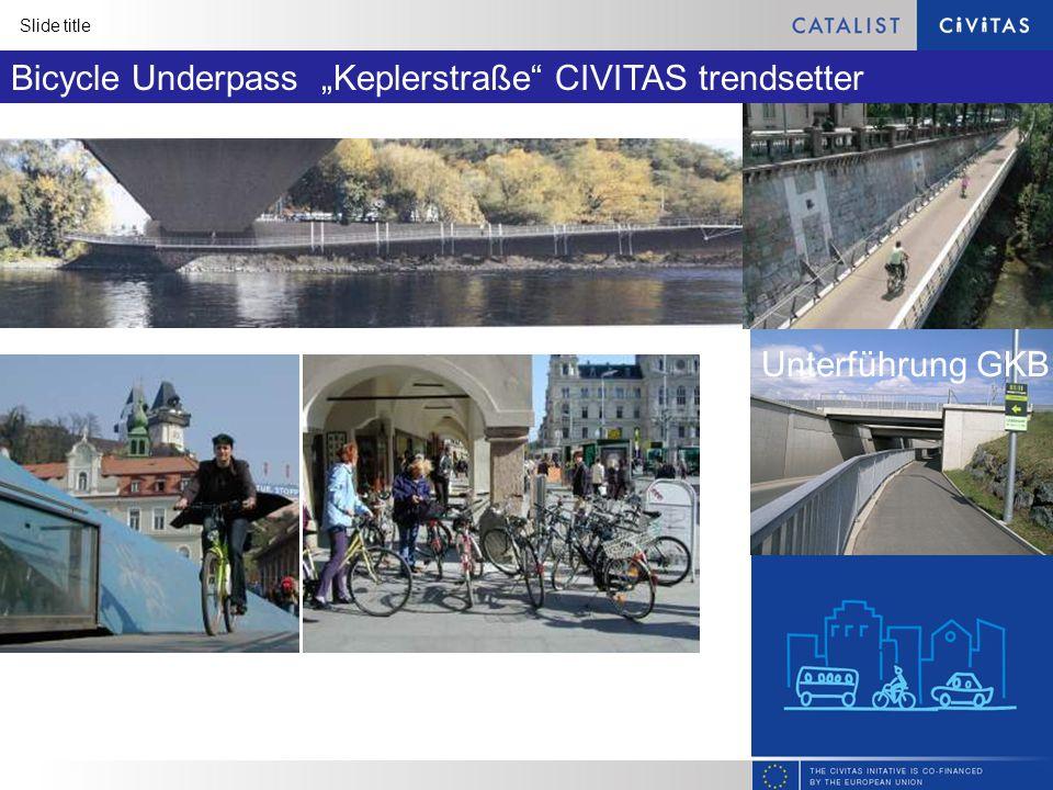 Slide title Bicycle Underpass Keplerstraße CIVITAS trendsetter Unterführung GKB