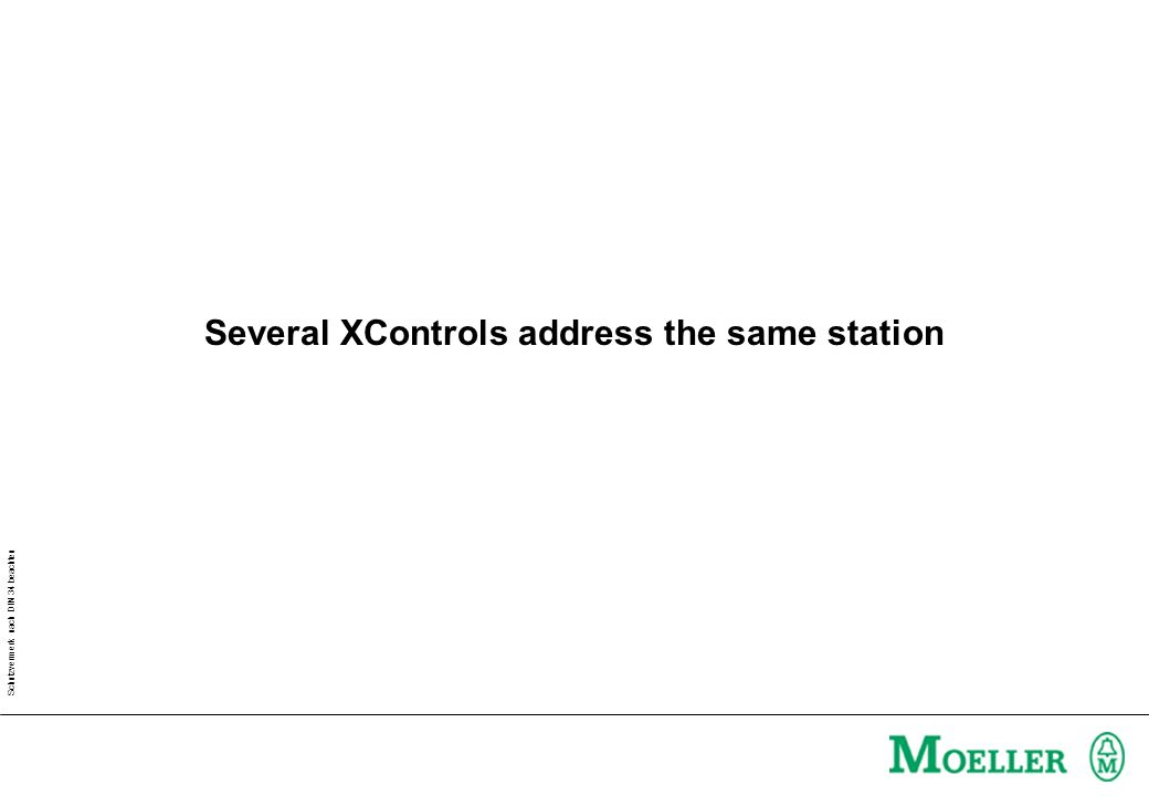 Schutzvermerk nach DIN 34 beachten Several XControls address the same station