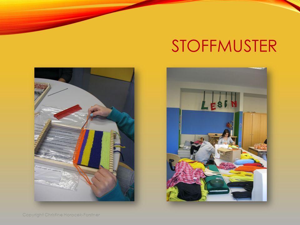 STOFFMUSTER Copyright Christine Horacek-Forstner