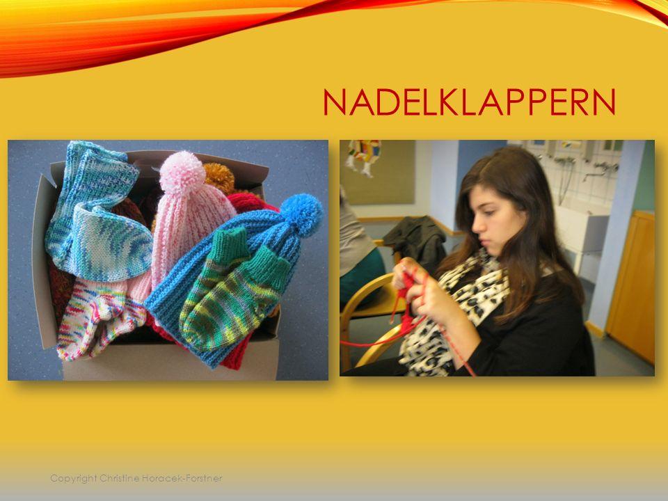 NADELKLAPPERN Copyright Christine Horacek-Forstner