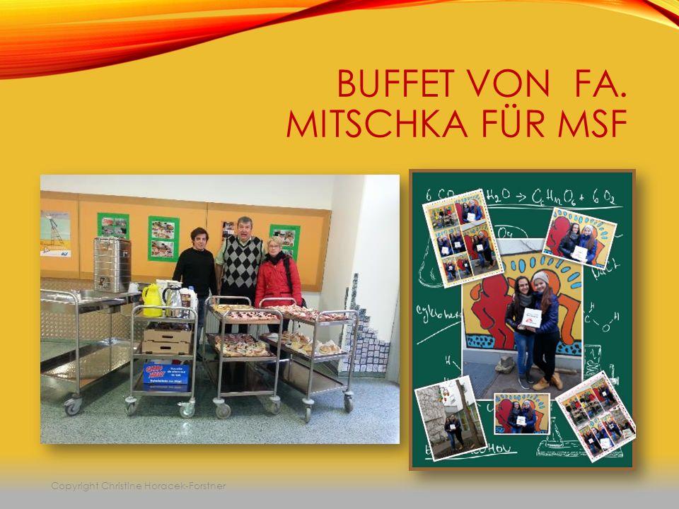 BUFFET VON FA. MITSCHKA FÜR MSF Copyright Christine Horacek-Forstner