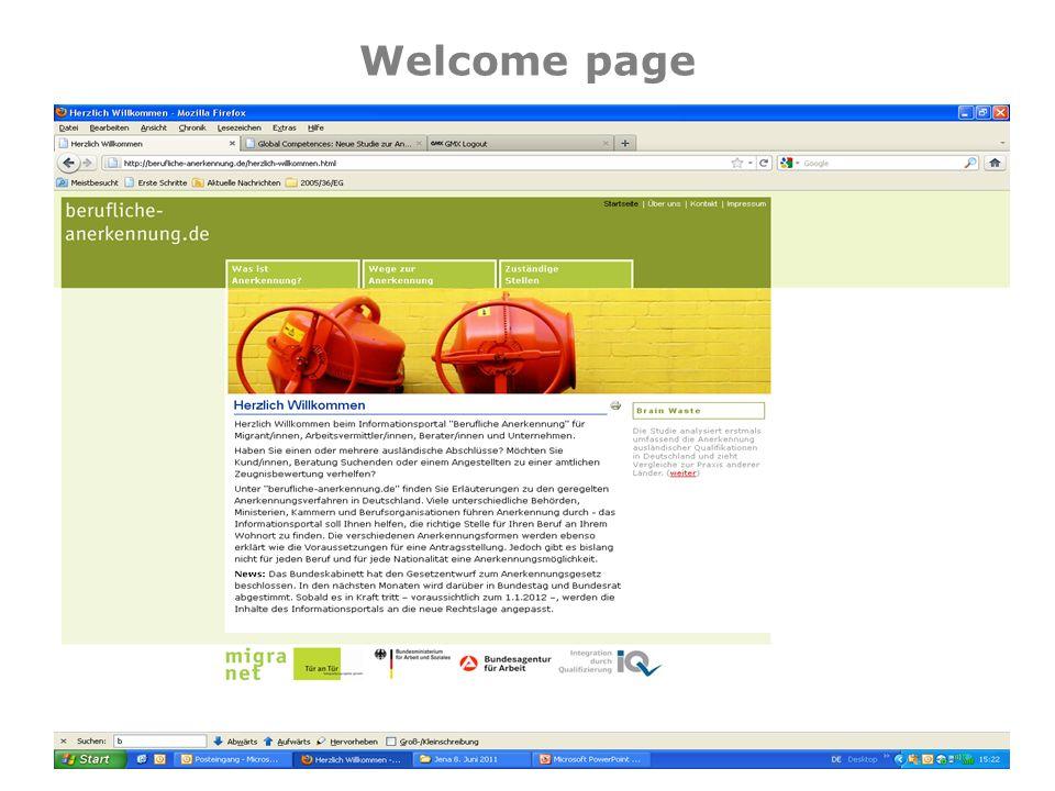 Welcome page © 2011 – Tür an Tür – Integrationsprojekte gGmbH