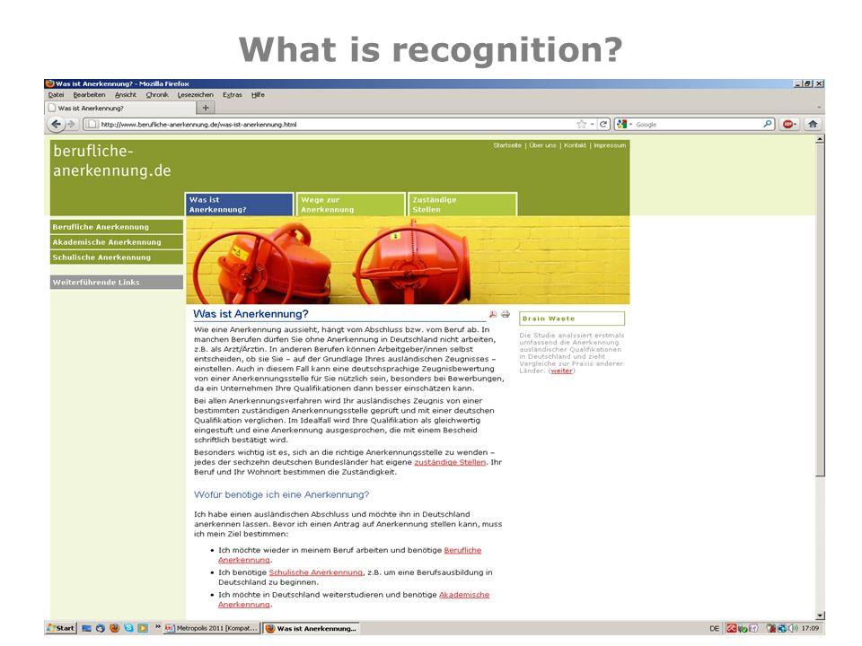 What is recognition © 2011 – Tür an Tür – Integrationsprojekte gGmbH