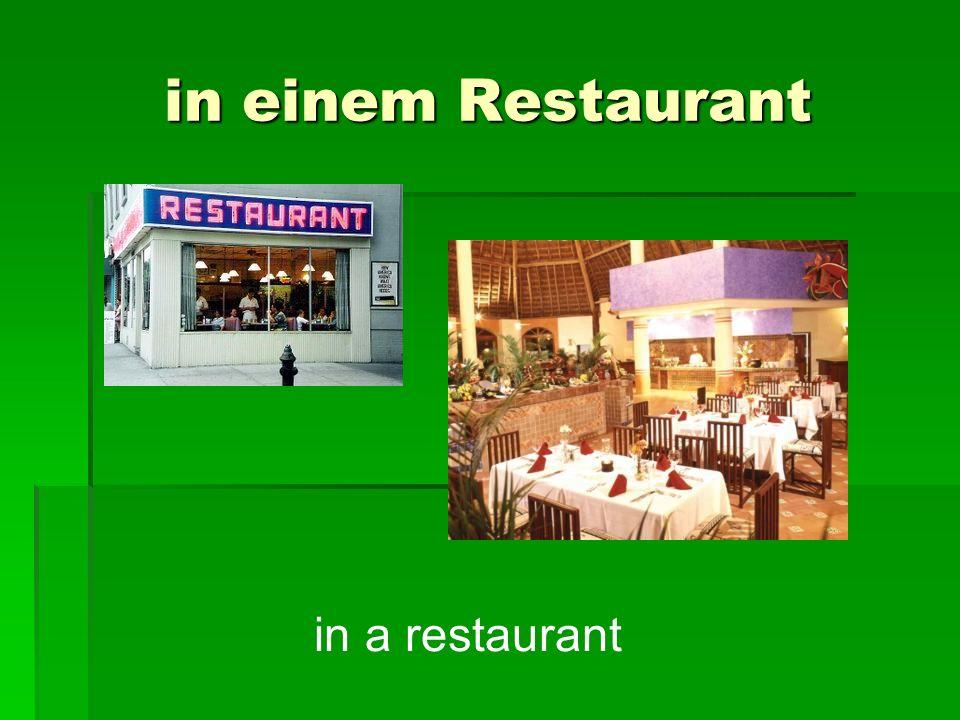in einem Restaurant in a restaurant